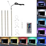 Minger LED テレビのUSBバックライトセット LEDテープ ライト 防水仕様 RGB20色 調光付き 白ベース 両面テープで好きな場所に貼り付け可能