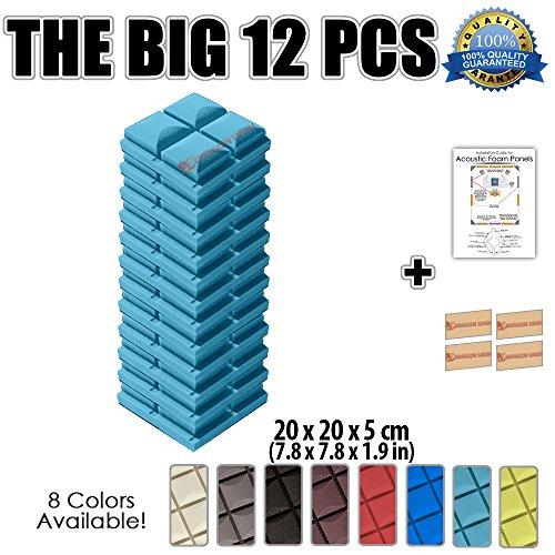 super-dash-lot-de-12-de-20-x-20-x-5-cm-bleu-clair-insonorisation-hemisphere-champignon-acoustique-di