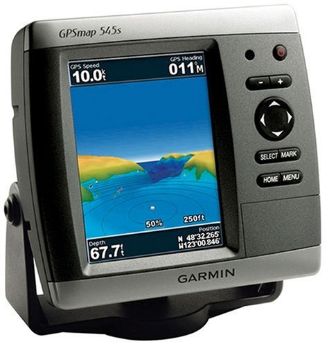 Garmin GPSMAP 545S 5-Inch Waterproof Marine GPS and Chartplotter with Dual Frequency Transducer