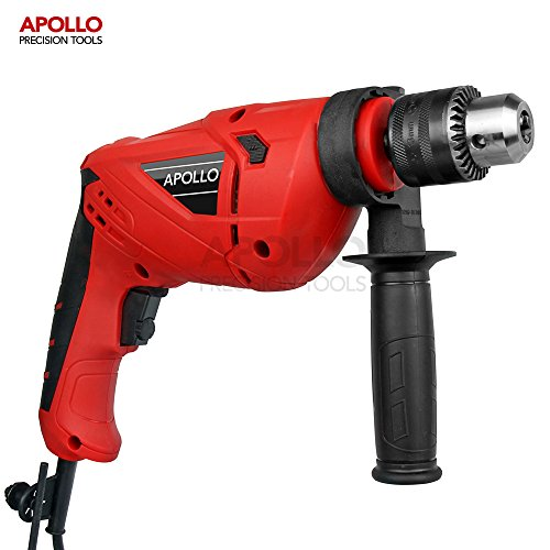 "51GiccI3opL - BEST BUY #1 Apollo 710W Hammer Drill with 1/2"" Chuck (13mm ) & 12 Piece Mixed Drill Bit Set"