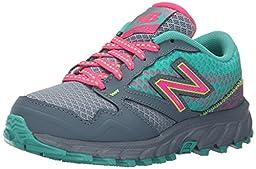 New Balance KT690 Trail Shoe (Little Kid/Big Kid), Grey/Pink, 3 W US Little Kid