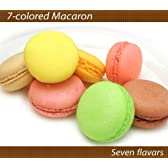マカロン7つの味セット 表面はサクッと噛むほどしっとり ピスタチオ・フランボワーズ・レモン・ブルーベリー・マンゴー・プラリネカフェ・ショコラ