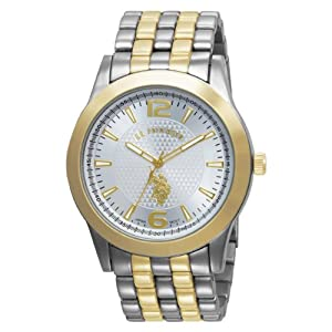 U.S. Polo Assn. Classic Men's USC80021 Two-Tone Silver Dial Bracelet Watch