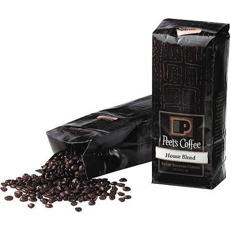 【Whole Bean】 Peet's Coffee House Blend Fresh Roasted Coffee, 1lb ピーツ コーヒー ハウスブレンド フレッシュロースト 【挽き具合:コーヒー豆のまま】 並行輸入品