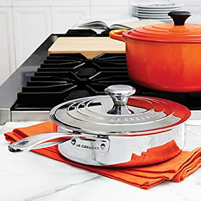 Le Creuset 3 qt. Stainless Steel Saute Pan with Lid