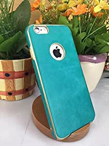 Sunny Fashion Soft PU Leather Back Case Cover for Apple iPhone 7 - Sky Blue