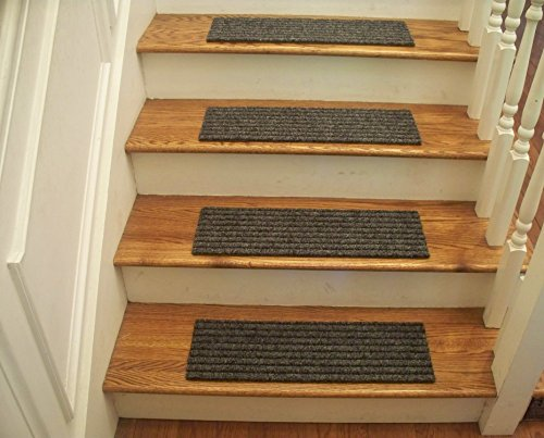 Essential Carpet Stair Treads - Style: Classy - Color: Gray and Black - Size: 24