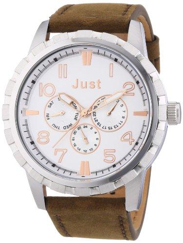 Just Watches 48-S4997-SL - Orologio da polso uomo, pelle, colore: marrone