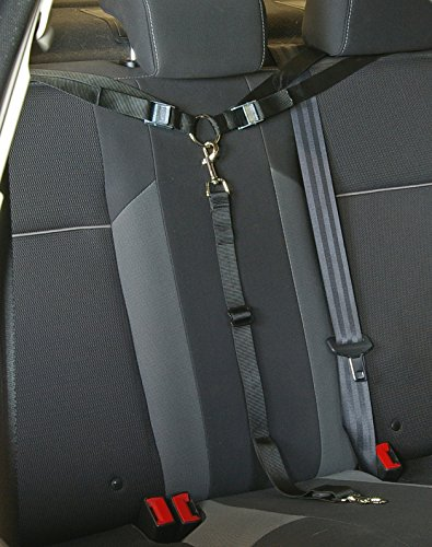 Paws 'n' Claws Tangle Free Dog Tether for Vehicle - Attaches around headrest or baby car seat brackets - Adjustable Restraint K9 Lead Sedan Backseat Leash Truck Seatbelt Belt Lead Harness Pet Barrier SUV Carrier Bridge Extender Hammock Cover Tie Out (Harness Extender compare prices)