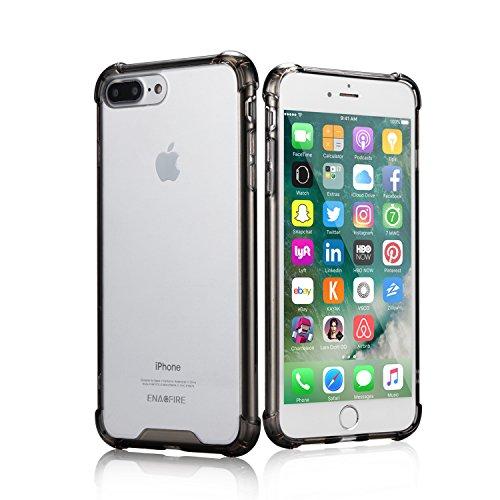 EnacFire iphone7 plus ケース アイフォン7 plus ケース 落下防止 防指紋 超薄 耐衝撃カバー 高品質TPU ケース ブラック 6ケ月保証