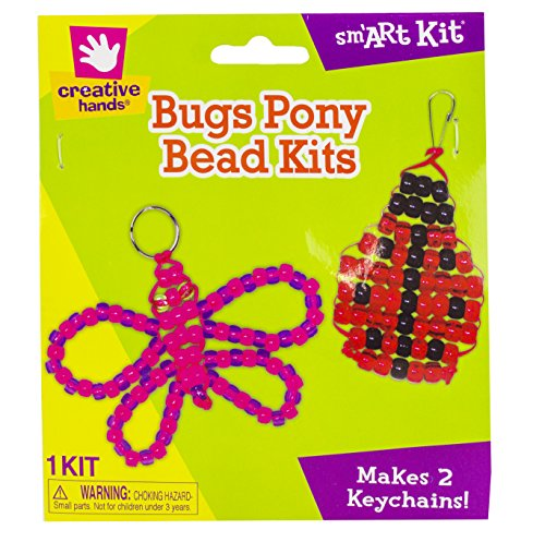 Creative Hands by Fibre-Craft - Pony Beads Bug Kit - Arts and Crafts - No Scissors or Glue Required - For Ages 3 and Up - 1