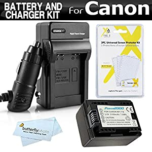 Battery And Charger Kit For Canon VIXIA HF R52, HF R50, HF R500, HF R62, HF R60, HF R600, HF R700, HF R72, HF R70 Camcorder Includes Replacement BP-718 Battery + Charger (Replaces Canon BP-709, BP-718)