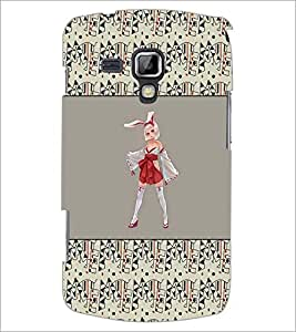 PrintDhaba Cute Girl D-4666 Back Case Cover for SAMSUNG GALAXY S DUOS S7562 (Multi-Coloured)