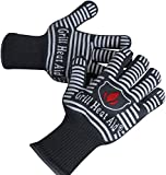 Revolutionary 932°F Extreme Heat Resistant EN407 Certified Gloves - Thick but Light-Weight & Flexible, 2 Gloves