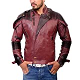 Abbracci Star Lord Jacket Galaxy Men's Leather Motorcycle Vol 2 Biker Costume Coat ?Limited Edition? (XL, Without Bag) (Color: Without Bag, Tamaño: X-Large)