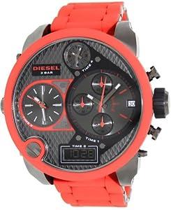 Diesel Mr. Daddy 4 Time Zone Silicone - Red Men's watch #DZ7279