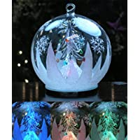 Christmas Tree Lighted Holiday Ornament LED Color Changing