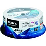 SONY データ用BD-R 追記型 片面1層25GB 6倍速 白 25枚スピンドル 25BNR1DCPP6