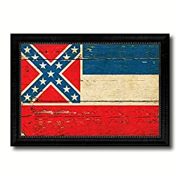 Mississippi State Vintage Flag Collection Western Interior Design Souvenir Gift Ideas Wall Art Home Decor Office Decoration - 23\