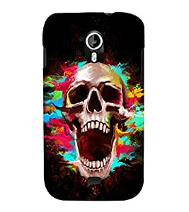printtech Skull Shout Pattern Back Case Cover for Micromax Canvas HD A116::Micromax Canvas HD Plus A116Q