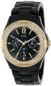 GUESS Womens U0062L8 Analog Display Quartz Black Band Watch