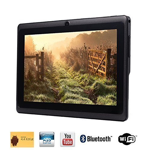 Tagital 7'' Quad Core Android 4.4 KitKat Tablet PC, HD Screen 1024x600, 8GB, Dual Camera, Netflix, Skype, 3D Game Supported (Black) (Quad Core Tablets Under $100 compare prices)