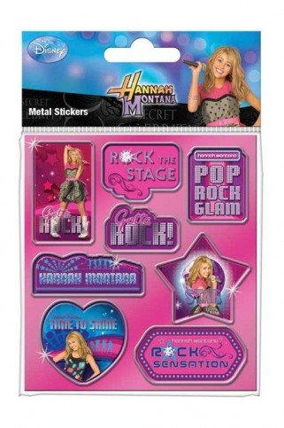 Hannah Montana Sticker Set - Rock The Stage, Metal Sticker Pack (6 x 4 inches)