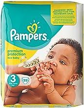 Pampers Windeln New Baby Gr. 3 Midi 4-9 kg Sparpack, 4er Pack (4 x 35 Stück)