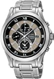 Seiko Men's Premier SNAF17 Silver Stainless-Steel Quartz Watch with Silver Dial