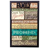 Family Rules Biblical Wall Plaque