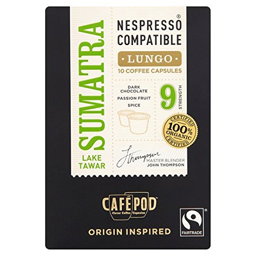 Order Cafepod Fair Trade Sumatra Coffee Pods 10 Servings by Cafepod