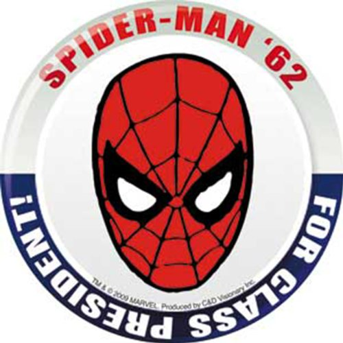 Licenses Products Marvel Comics Retro Spiderman for President Sticker - 1
