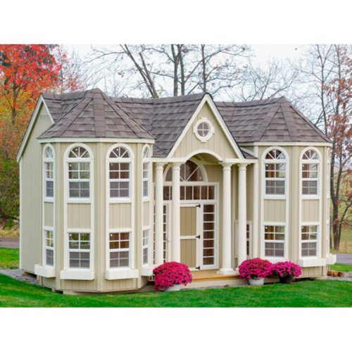 Little Cottage 10 x 16 Grand Portico Mansion Wood Playhouse