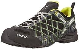 Salewa Men\'s Wildfire S GTX Technical Approach Shoe, Black/Citron, 7.5 M US
