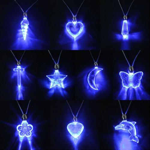 Kingso® 1Pc Led Blue Glow Sticks Light Lamp Pendant Necklace Party Disco Kid Child Xmas Gift