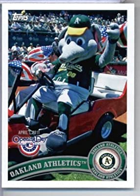 2011 Topps Opening Day Mascots Baseball Card #M16 Oakland Athletics - Oakland Athletics - MLB Trading Card