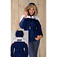 NFL- New York GIANTS Ladies The Looker Jacket with Faux Fur TrimHood~ Small by G 111