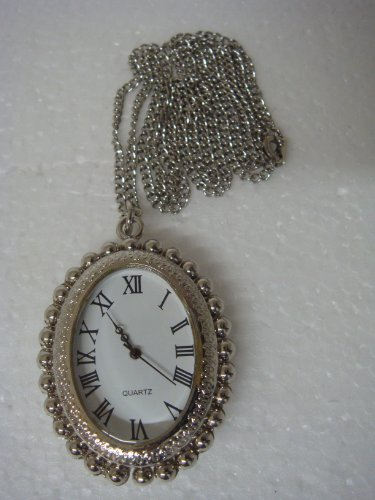 Oval Shape Quartz Watch Pendent with Cross Picture- 11737