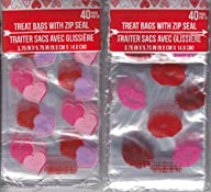 Valentine treat bags with zip seal, 8…