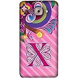 FUSON Designer Back Case Cover For Samsung J7 Max G615F/DS, Samsung Galaxy On Max, Samsung Galaxy J7 Max (Pink Deigner Ribbon Decorative Decoration)