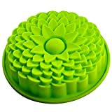 "1 X 9"" Sunflower Bread Pie Flan Tart Birthday Party Cake Silicone Mold Pan Bakeware"