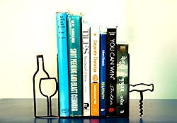 Metal Black bookends