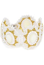 Miguel Ases Opalite Quartz and Mother-Of-Pearl Bracelet