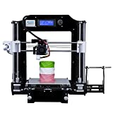 ALUNAR® Upgraded DIY Desktop 3D Printer Reprap Prusa i3 Kit, High Accuracy Self-Assembly Tridimensional FDM Printer, Multicolor Printing Machine