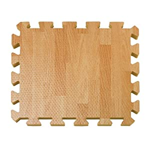 26-Piece Wood-Grain Foam Play Mat NATURAL