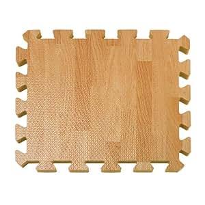 26-Piece Wood-Grain Foam Play Mat NATURAL