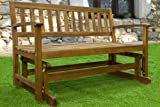 Garden bench with rocking system wooden glider bench tropical acacia wood swing benches garden seater rocking benches garden furniture