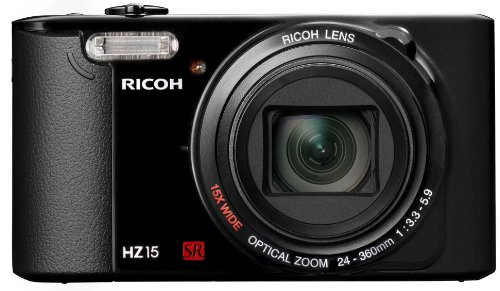 Ricoh HZ15 Digital Camera - Black (16MP Black Friday & Cyber Monday 2014