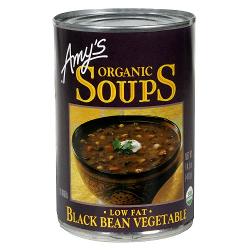 Amy's Organic Black Bean Vegetable Soup, 14.5-Ounce Cans (Pack of 12)