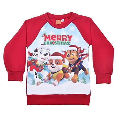 ragazzi-ufficiale-paw-patrol-maglione-natalizio-per-bambini-festive-maglione-rosso-red-2-3-years